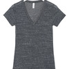 + Canvas Ladies' Jersey Short-Sleeve Deep V-Neck Tee