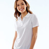 UltraClub® Ladies' Cool & Dry Box Jacquard Performance Polo