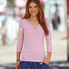 Ladies' Hailey 3/4-Sleeve Henley