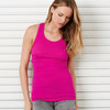 + Canvas Ladies' Sheer Mini Rib Racerback Tank
