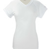 Ladies' Double Dry® Interlock V-Neck T-Shirt