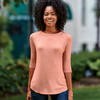 J.America Ladies' Oasis Wash 3/4-Sleeve Tee